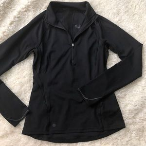 Black Athleta half zip jacket